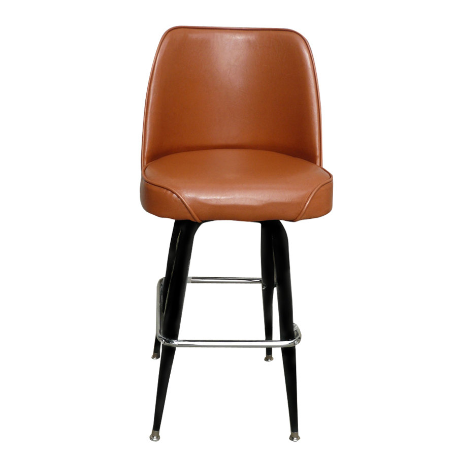 Deluxe Brown Barstool With 19 Quot Wide Bucket Seat
