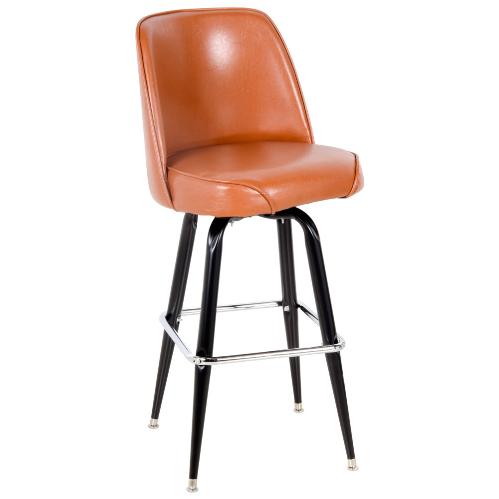 Lancaster Table Amp Seating Deluxe Brown Barstool With 19