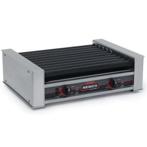 Nemco 8027SX Hot Dog Roller Grill with GripsIt Non-Stick Coating - 27 Hot Dog Capacity (120V)