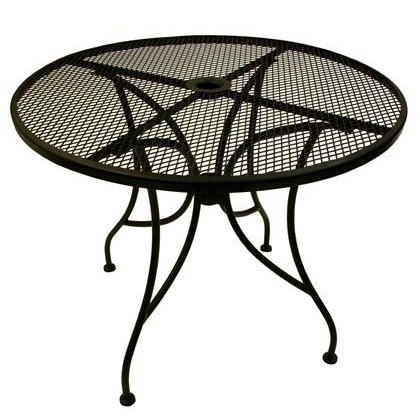 American Tables Amp Seating Alm36 36 Quot Round Mesh Top Outdoor