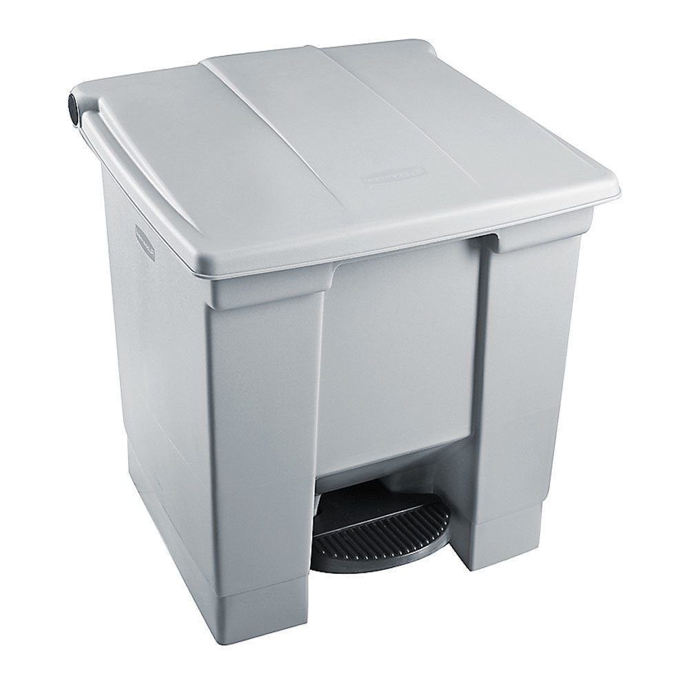 Rubbermaid 1829415 Gray Rectangular Plastic Step-On Container 8 Gallon