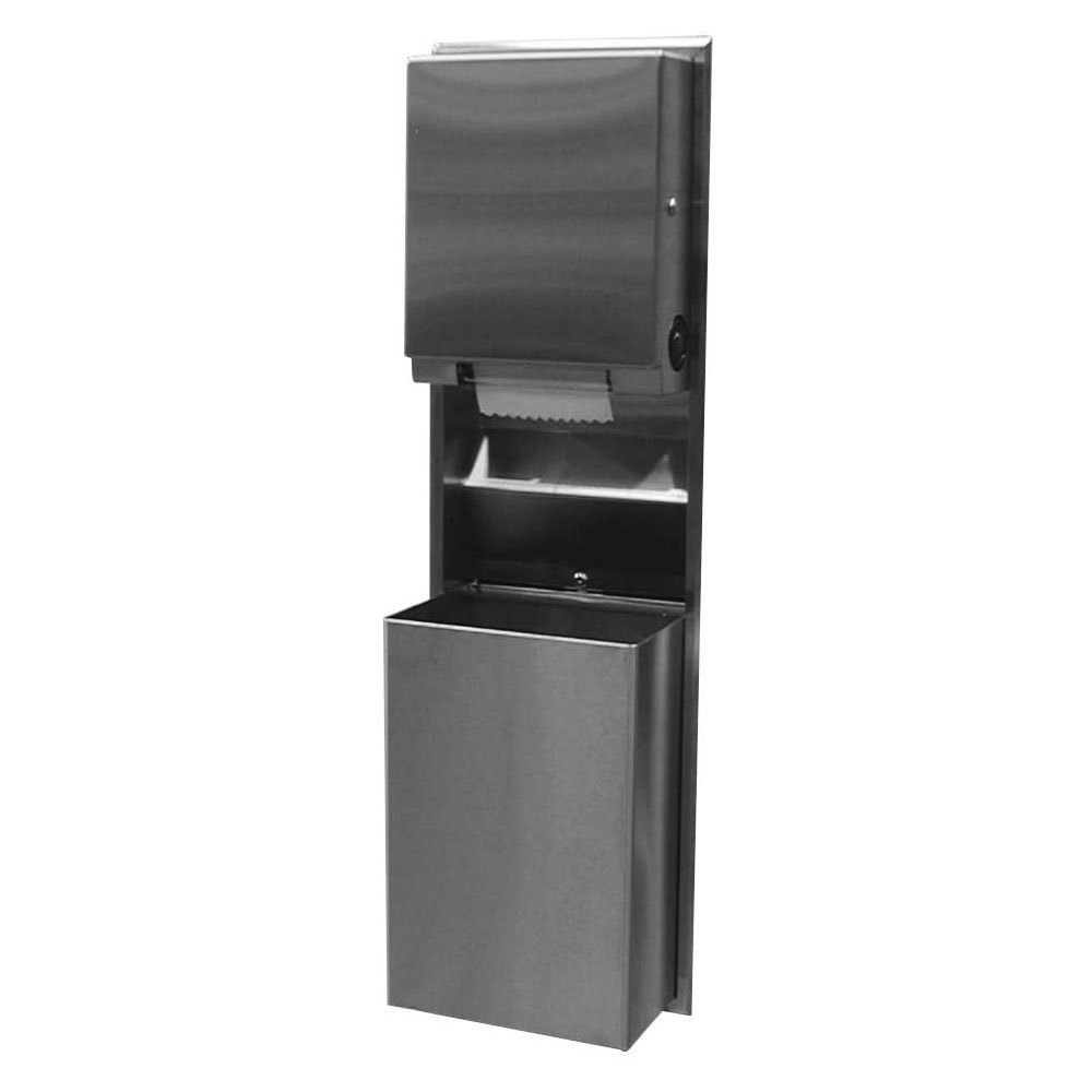 Bobrick B-39617 ClassicSeries Recessed Convertible Paper Towel Dispenser / Waste Receptacle