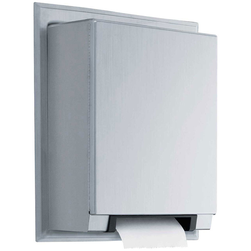Commercial Touchless Paper Towel Dispenser ~ Bobrick b automatic universal semi recessed roll