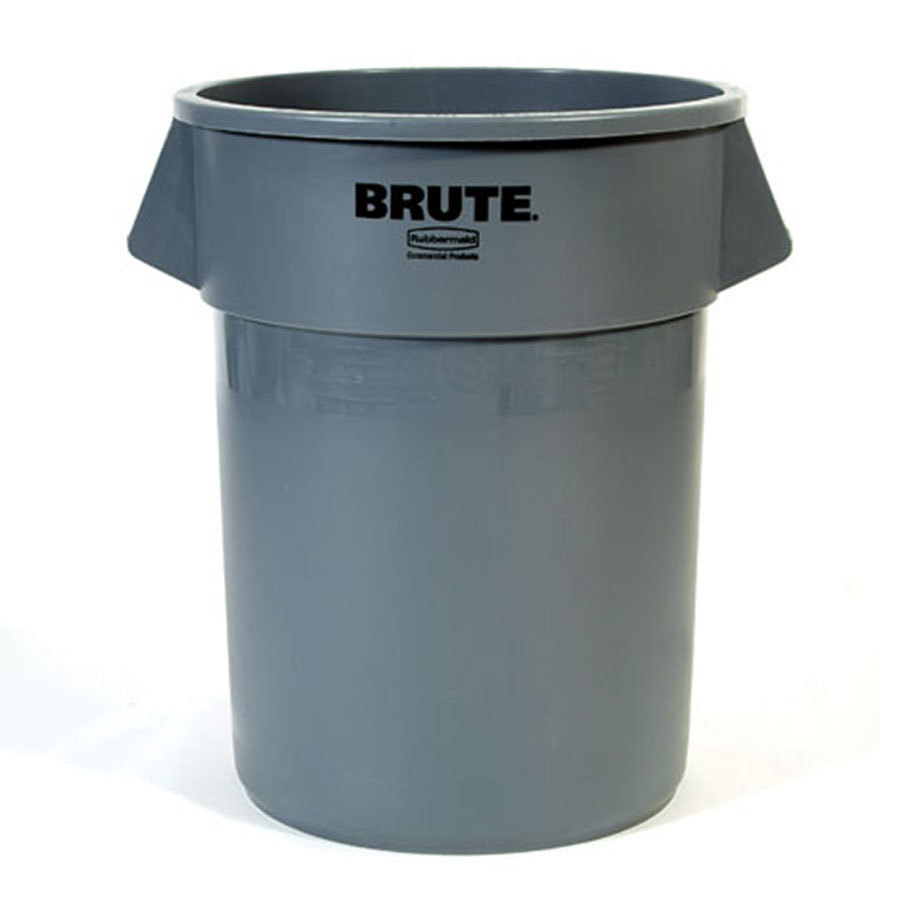 Rubbermaid Brute FG264300GRAY Gray 44 Gallon Trash Can