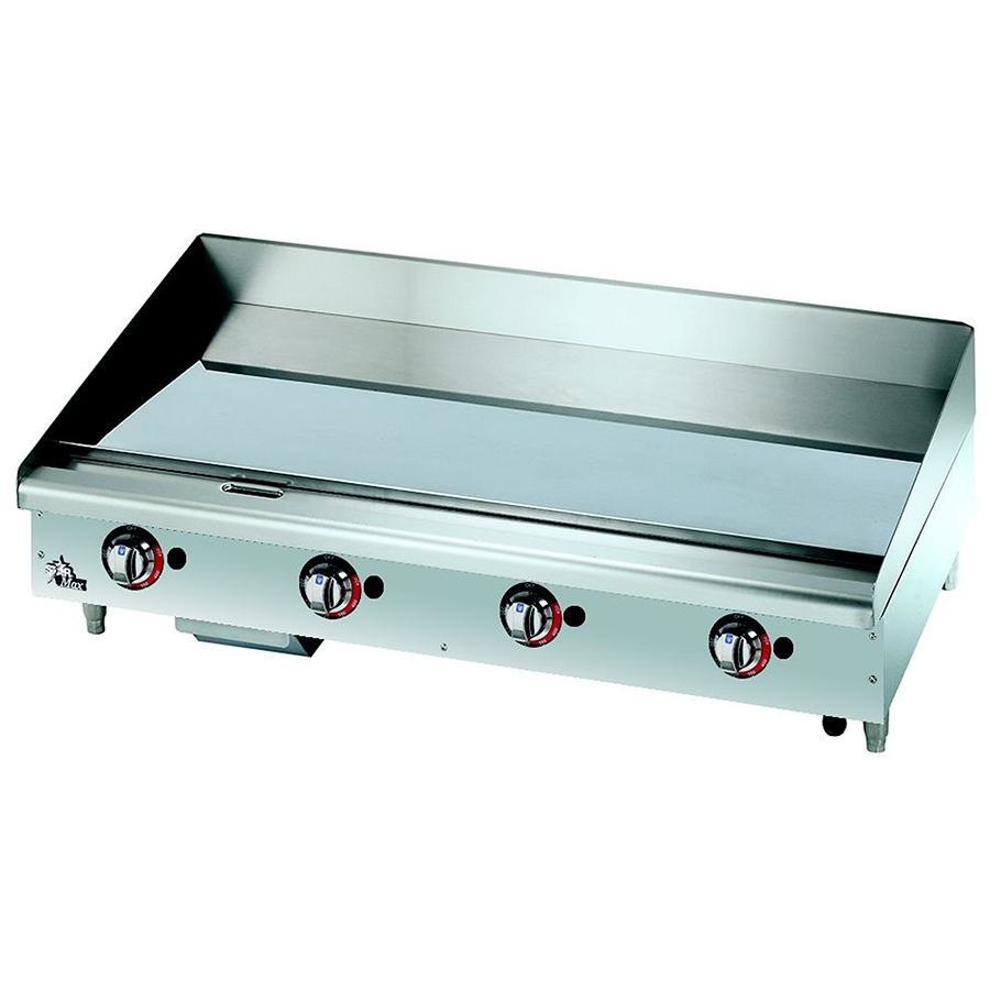 Star Max 648TCHSF 48 inch Countertop Gas Griddle with Chrome Plate Thermostatic Controls - 113,200 BTU