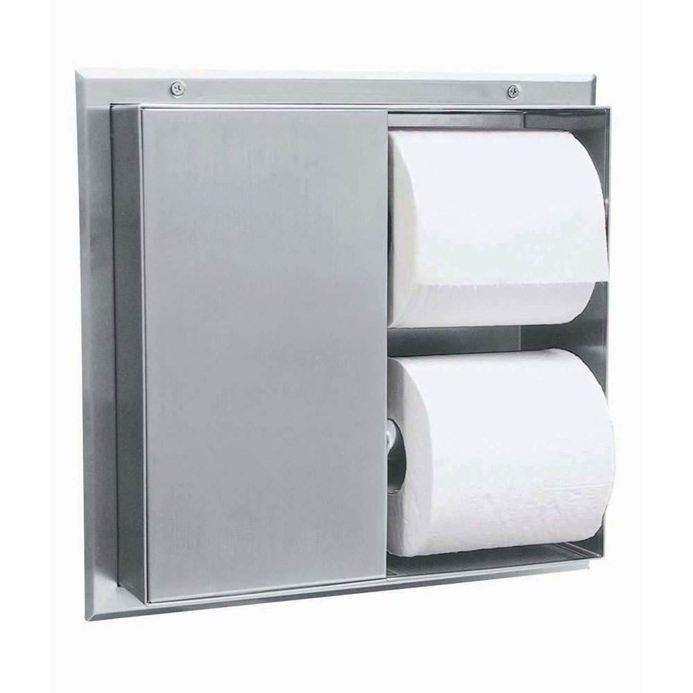 Bobrick B 386 Partition Mounted Multi Roll Dual Sided
