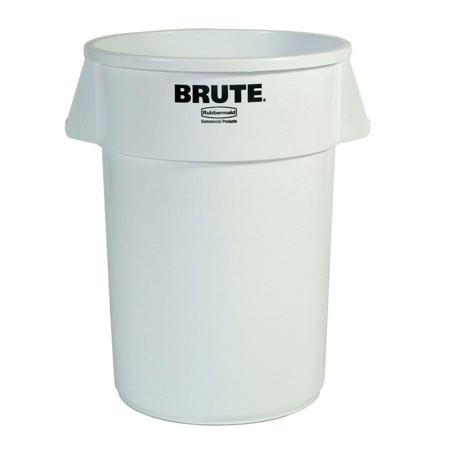 Rubbermaid Brute FG264300WHT White 44 Gallon Trash Can