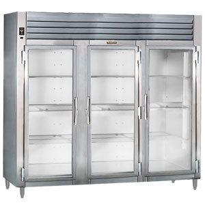 Traulsen AHT332WUT-FHG 79 Cu. Ft. Three Section Glass Door Reach In Refrigerator - Specification Line