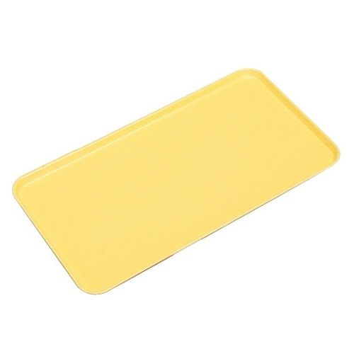 "Cambro 1318MT145 13"" x 18"" Yellow Fiberglass Market Tray - 12/Case"