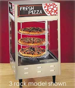 Nemco 6452 Rotating 4-Tiered Pizza Merchandiser 18 inch Racks 120V