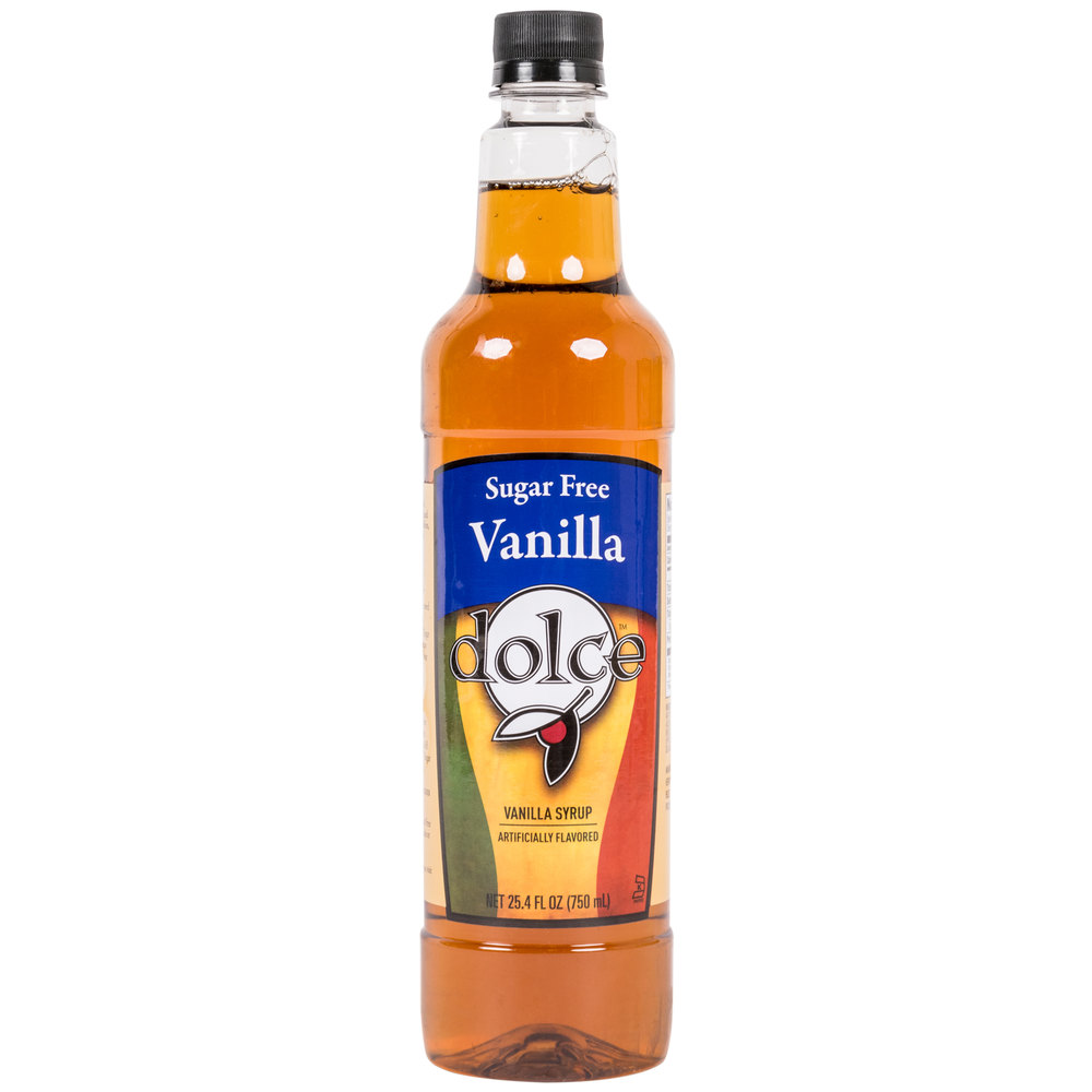 Dolce Vanilla Sugar Free Coffee Flavoring Syrup