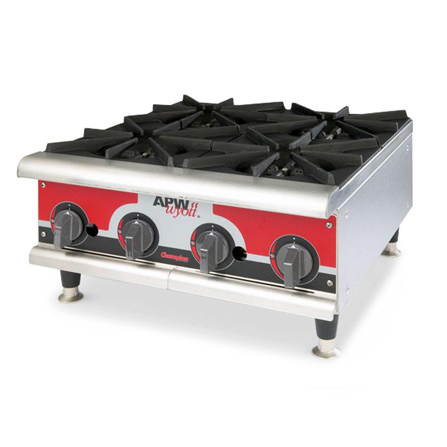 Countertop Gas Burner : ... GHPW-3i Champion Three Burner Countertop Gas Hot Plate - 84,000 BTU