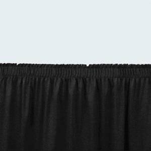 "National Public Seating SS16 Black Shirred Stage Skirt for 16"" Stage"