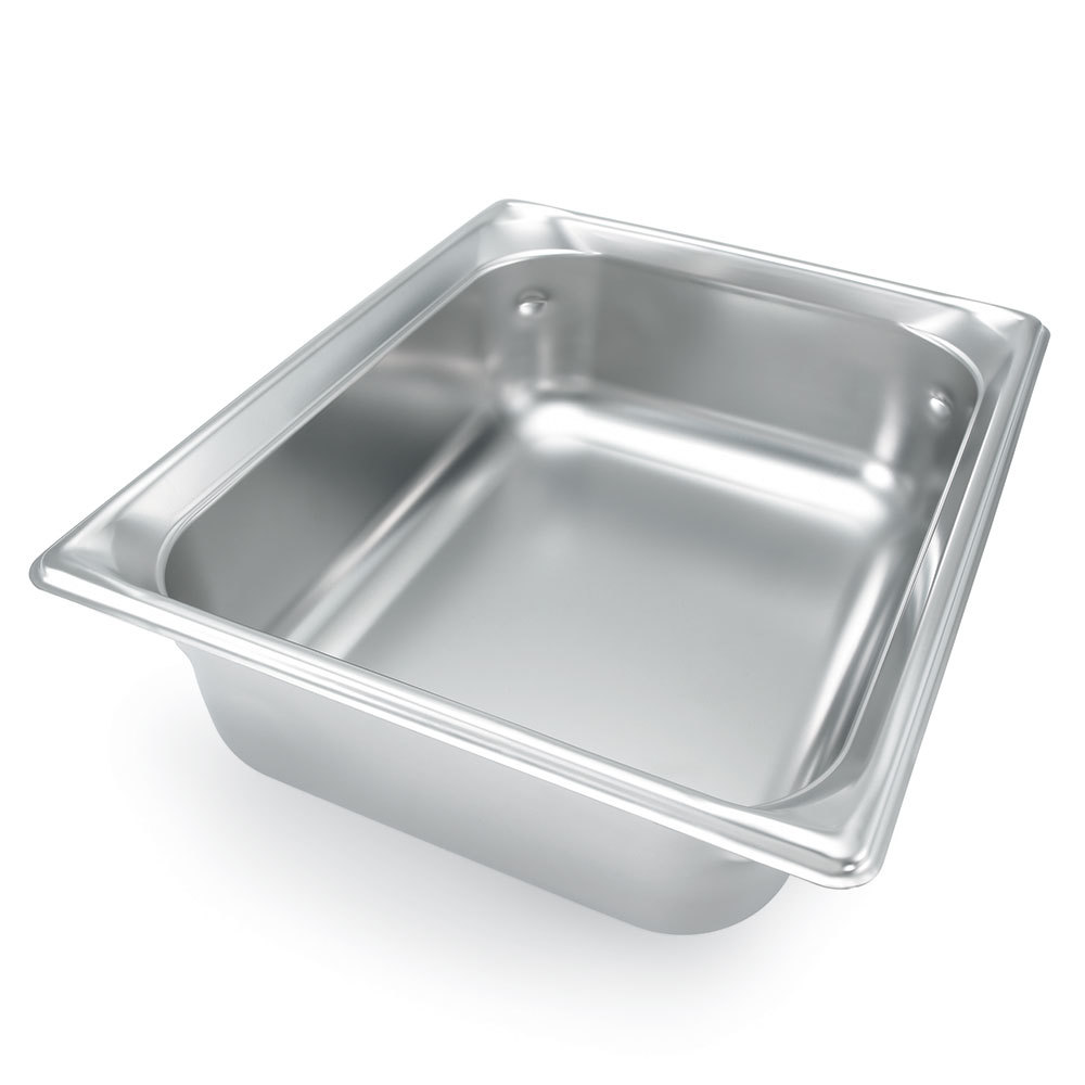 Vollrath 90242 Super Pan 3 Stainless Steel 1/2 Size Anti-Jam Steam Table Pan - 4 inch Deep