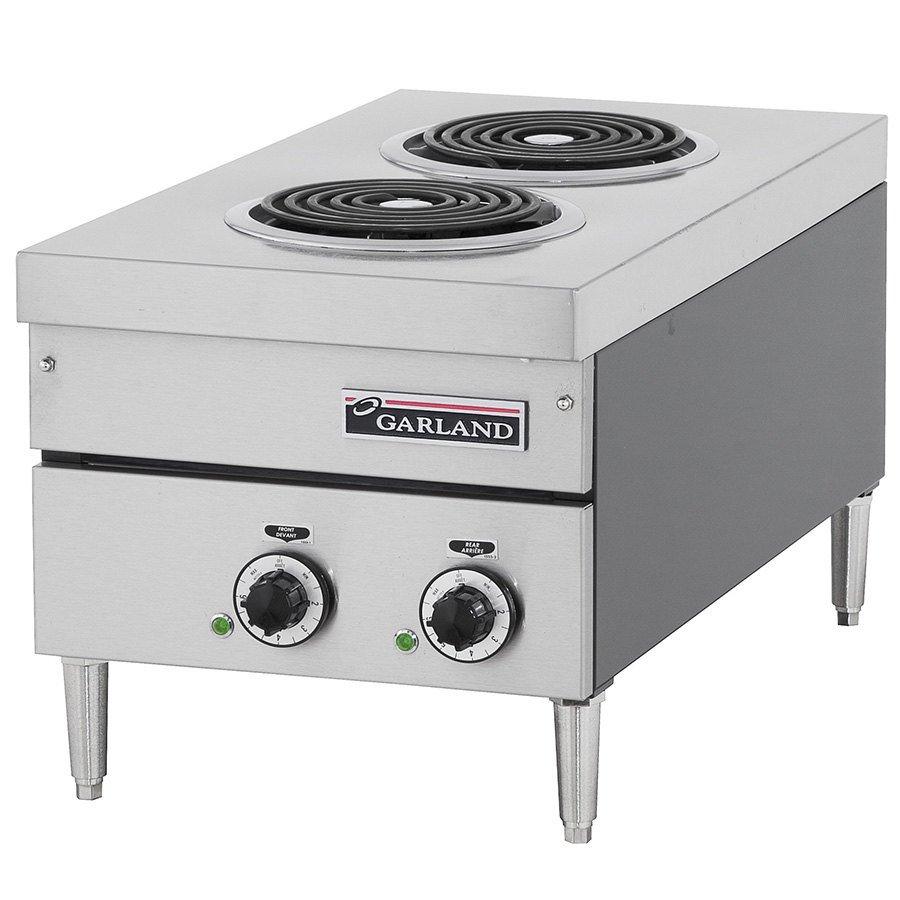 "Garland / US Range 240V Single Phase Garland E24-12H 24"" Heavy Duty Electric Countertop Hot Plate with Infinite Switch - 4.2 kW at Sears.com"