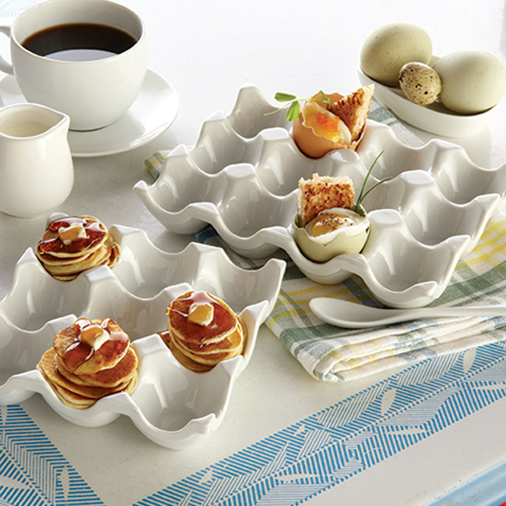 American metalcraft peh12 12 slot porcelain egg tray for Egg tray craft