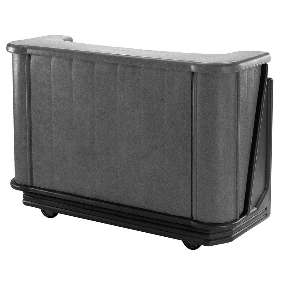 "Cambro BAR650DX420 Granite Gray and Black Cambar 67"" Portable Bar with 7-Bottle Speed Rail, Cold Plate, and Pre-Mix System"