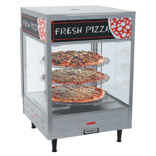 "Nemco 6452-2 Double Door Rotating 4-Tier Pizza Merchandiser with 18"" Racks - 120V"