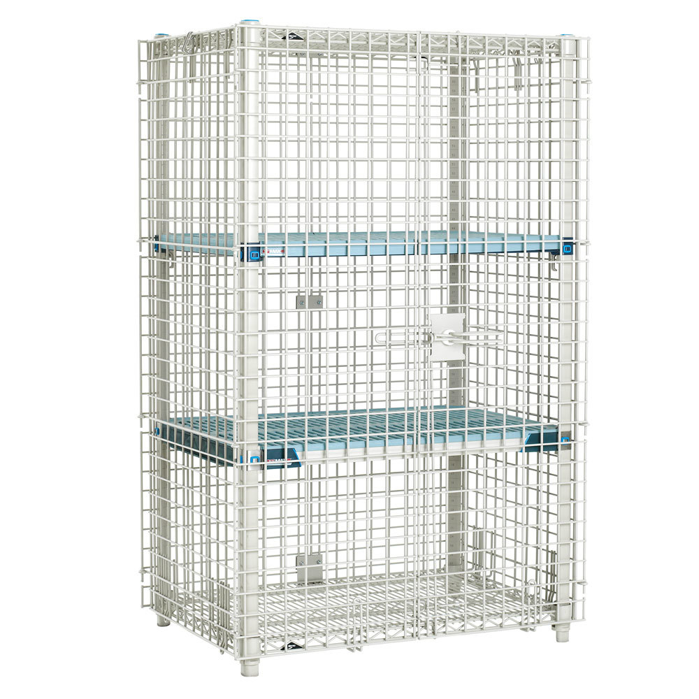 "Metro MQSEC53E 27"" x 39"" x 66"" MetroMax Q Stationary Security Unit"