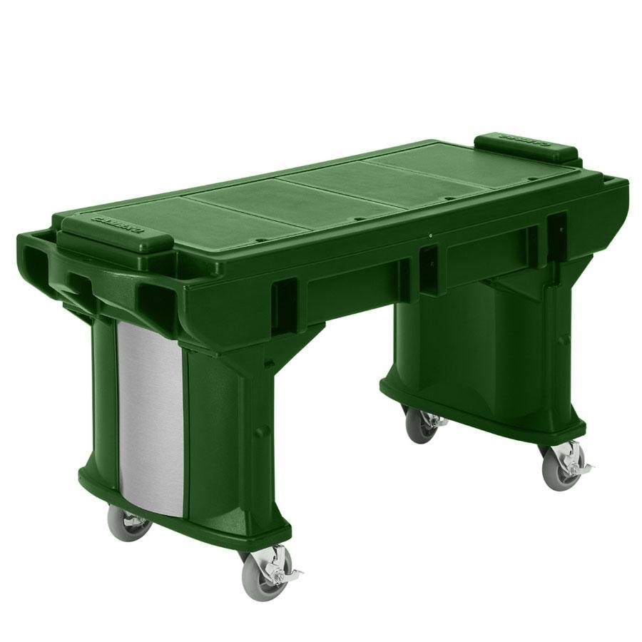 Cambro VBRTL5519 Green 5' Versa Work Table with Standard Casters - Low Height