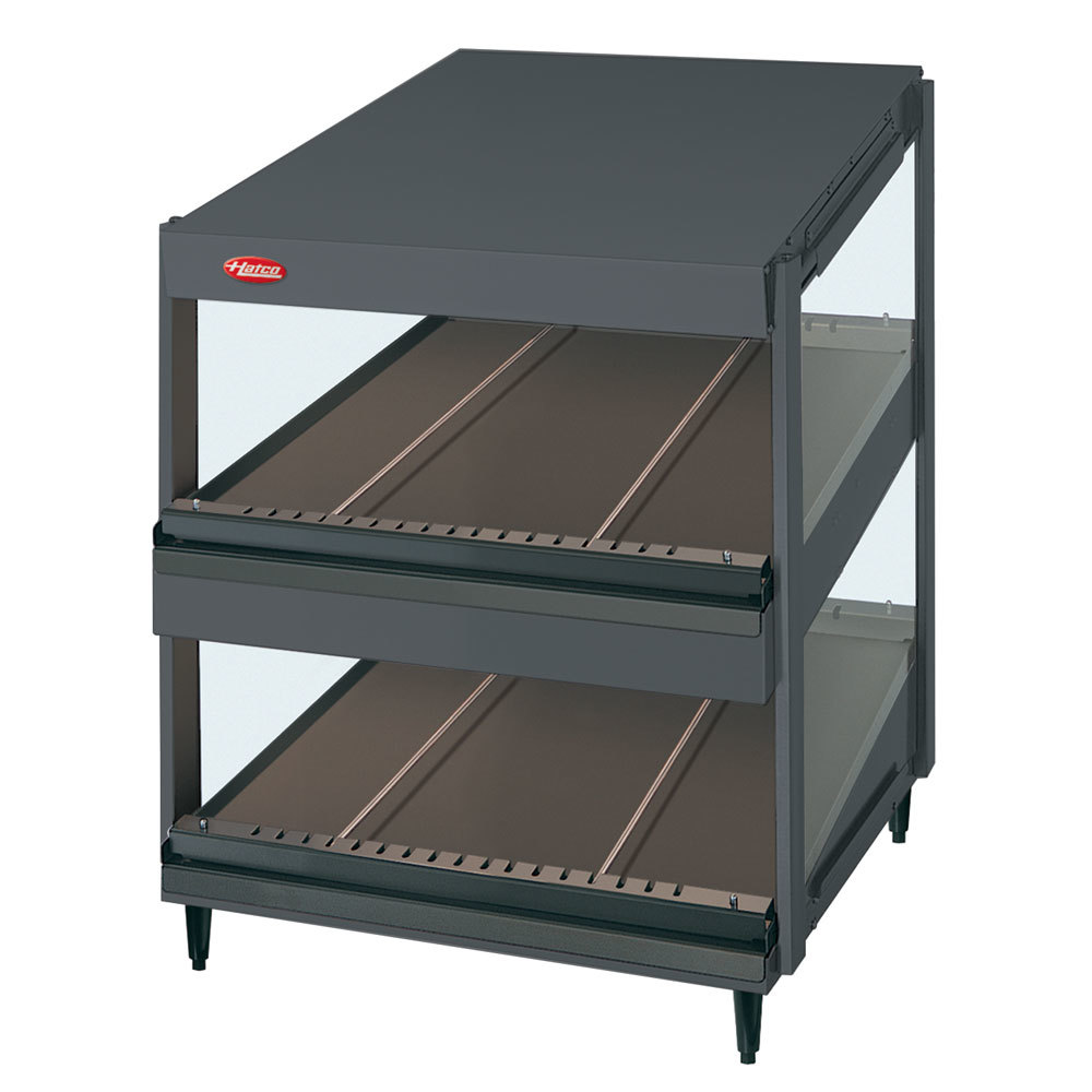 "Hatco 120/208V Hatco GRSDS-52D Gray Granite Glo-Ray 52"" Slanted Double Shelf Merchandiser at Sears.com"