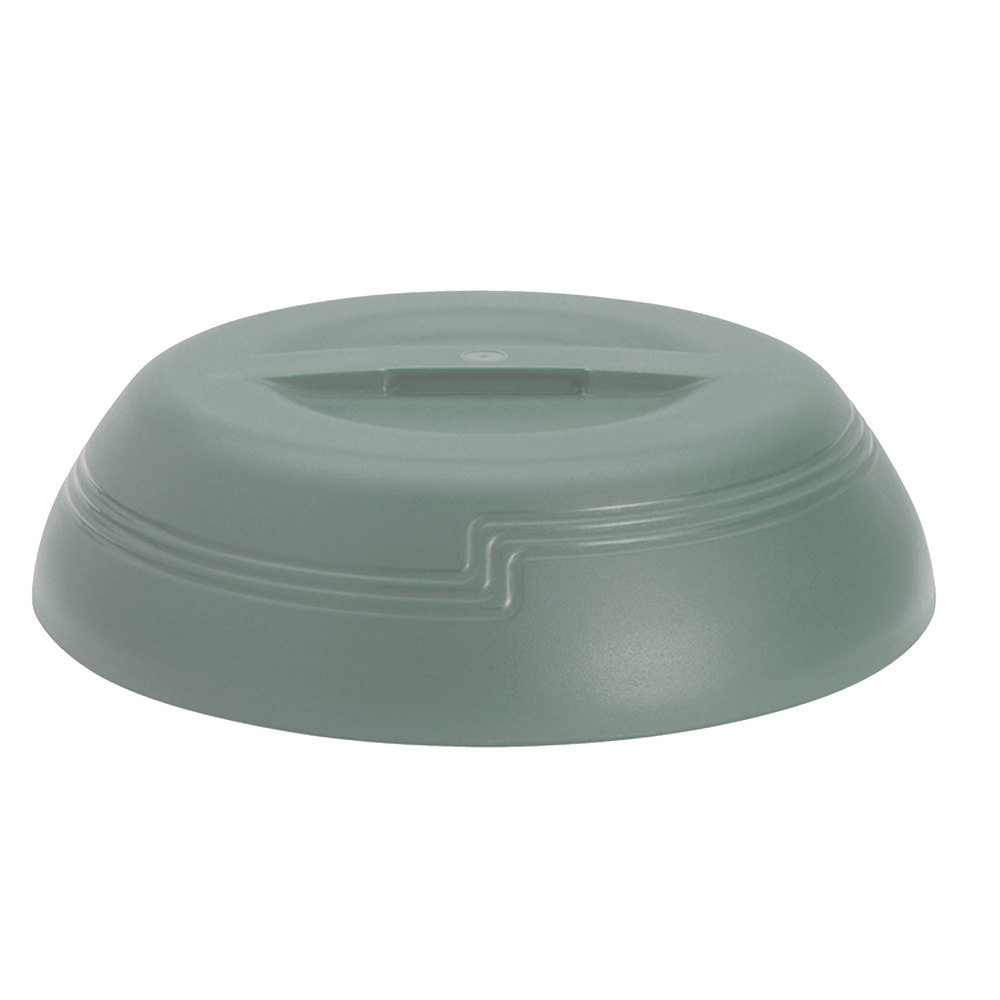 "Cambro MDSLD9447 Meadow Green Low Profile Insulated Dome Cover for 9"" Plates - 12/Case"