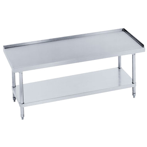 "Advance Tabco ES-247 24"" x 84"" Stainless Steel Equipment Stand with Stainless Steel Undershelf"