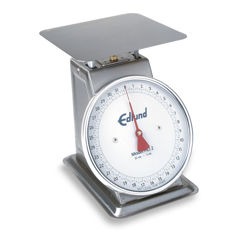 Edlund HD-2DP Heavy Duty 32 oz. Portion Control Scale with 8 1/2 inch x 8 1/2 inch Platform and Air Dashpot