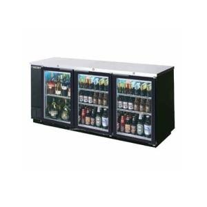 "Beverage Air (Bev Air) BB78G-1-S 78"" Back Bar Refrigerator with 3 Glass Doors and Stainless Steel Front - 115V at Sears.com"