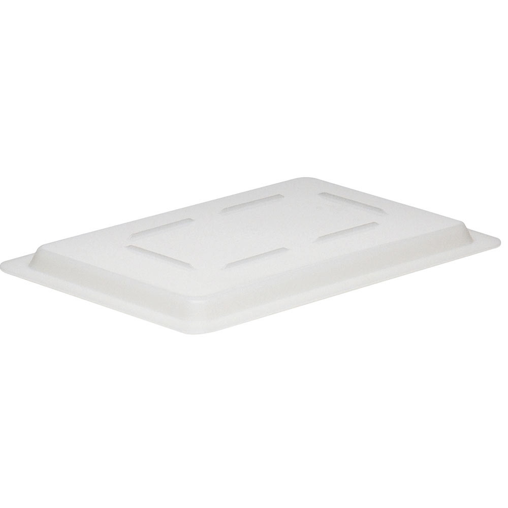 "Cambro 1218CP148 White 12"" x 18"" Poly Flat Lid for Food Storage Box"