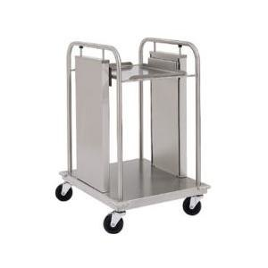 "Delfield TT2-2020 Mobile Open Frame Two Stack Tray Dispenser for 20"" x 21"" Food Trays"