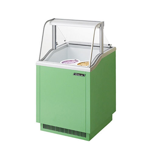"""Turbo Air Refrigeration Turbo Air TIDC-26G Green 26"""" Ice Cream Freezer Dipping Cabinet with Low Curved Glass - 5.19 Cu. Ft. at Sears.com"""