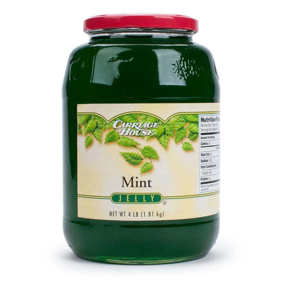 Mint Jelly - (6) 4 lb. Glass Jars / Case - 6/Case