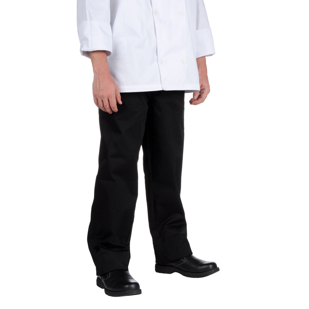Chef Revival P002BK Size XL Black EZ Fit Chef Pants - Poly-Cotton