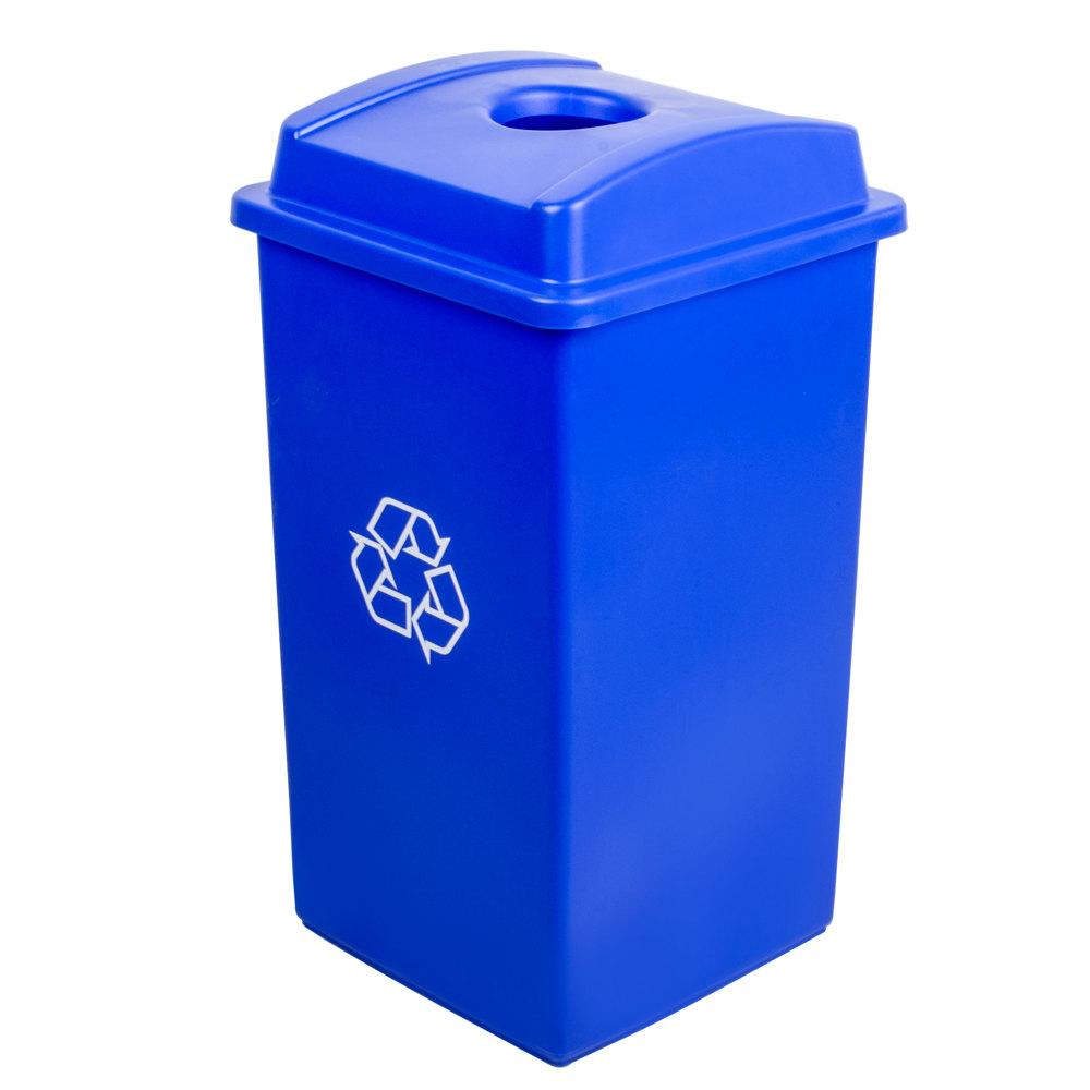 Continental Swingline 25 Gallon Blue Square Recycling