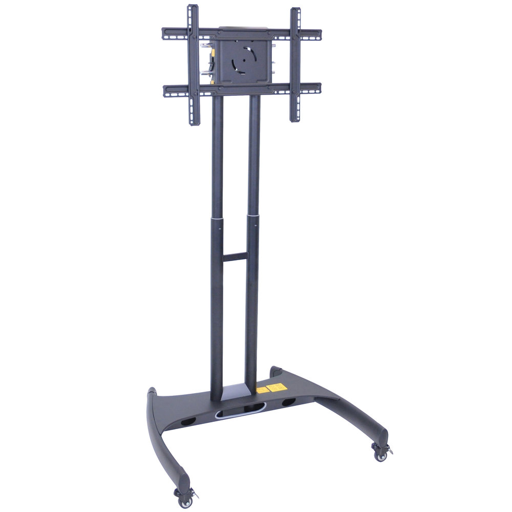 "Luxor / H. Wilson FP2000 Adjustable Height TV Cart for 40"" to 60"" Screens"