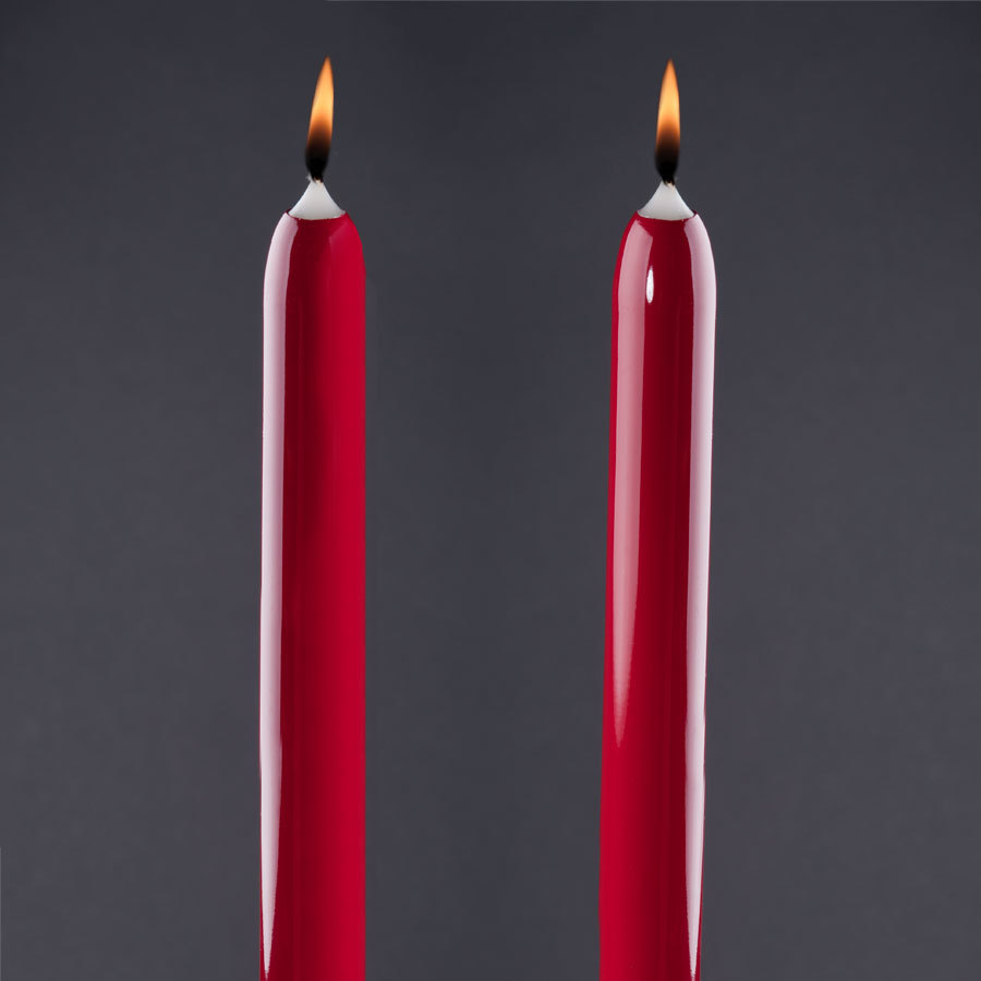 "Will & Baumer 15"" Red Chace Candle 2 / Pack"