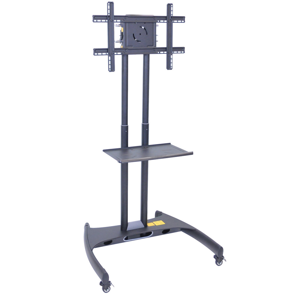 luxor fp2500 adjustable height tv cart with shelf for 40 inch to 60 inch screens