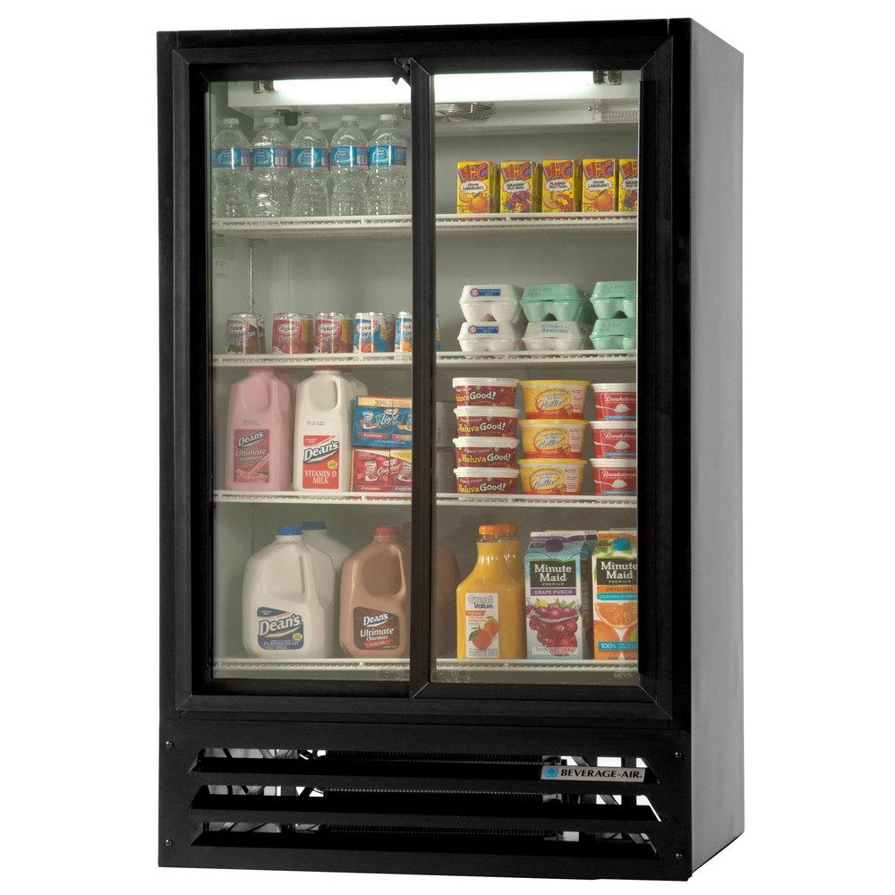 Beverage air lv15hc 1 b 36 black lumavue refrigerated sliding main picture planetlyrics Choice Image