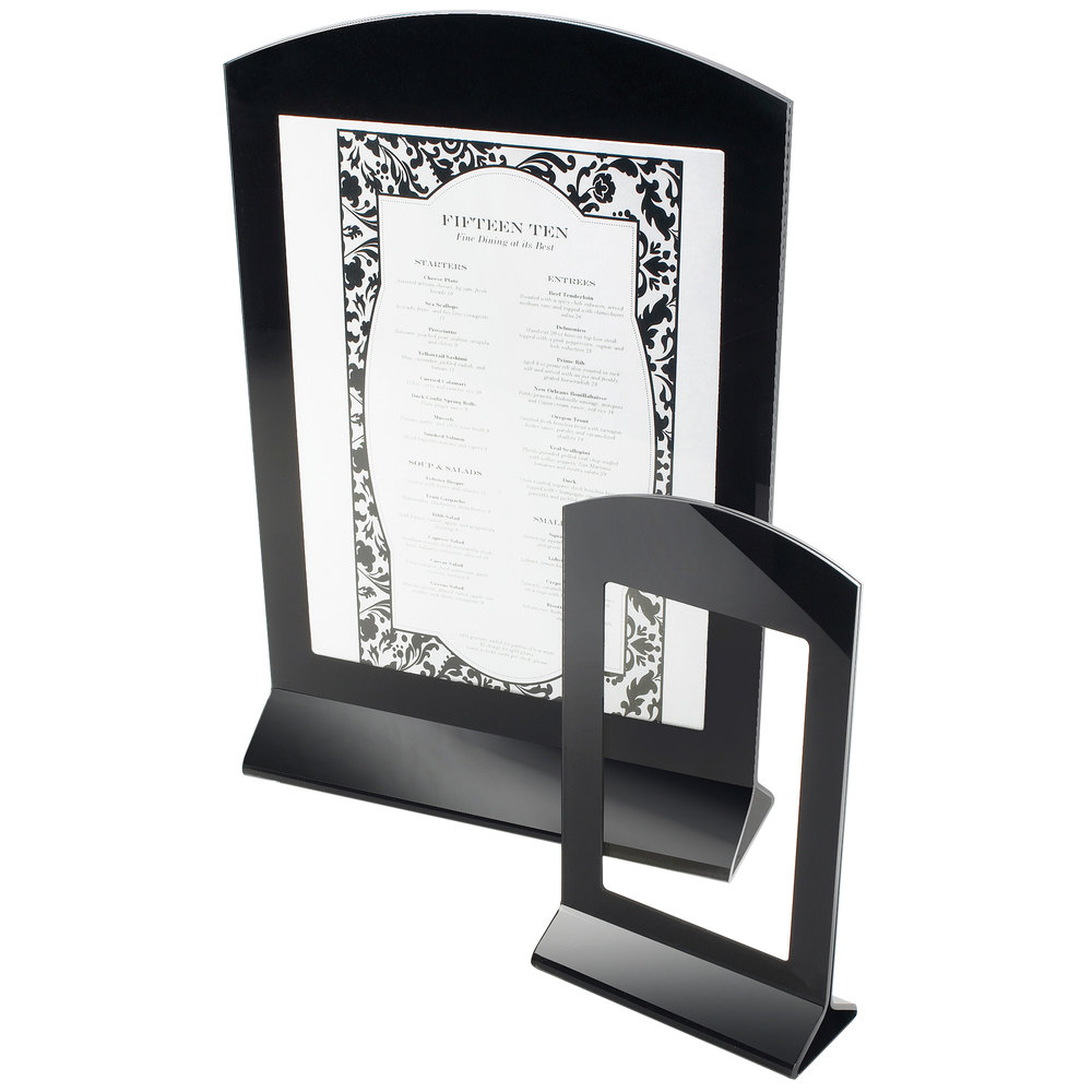 "Cal-Mil 633 Classic Arched Displayette - 8 1/2"" x 11"""