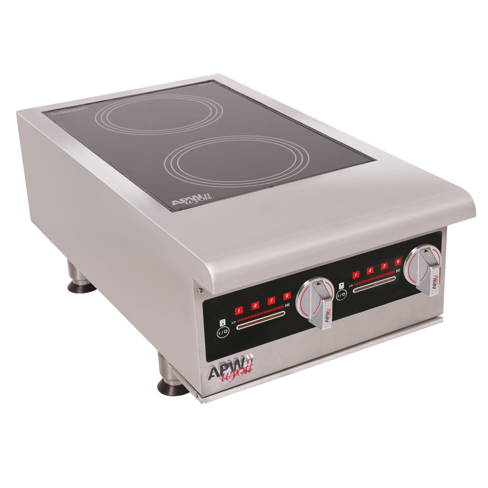 volts apw wyott ihp2 champion dual hob countertop hot plate induction range 7000w