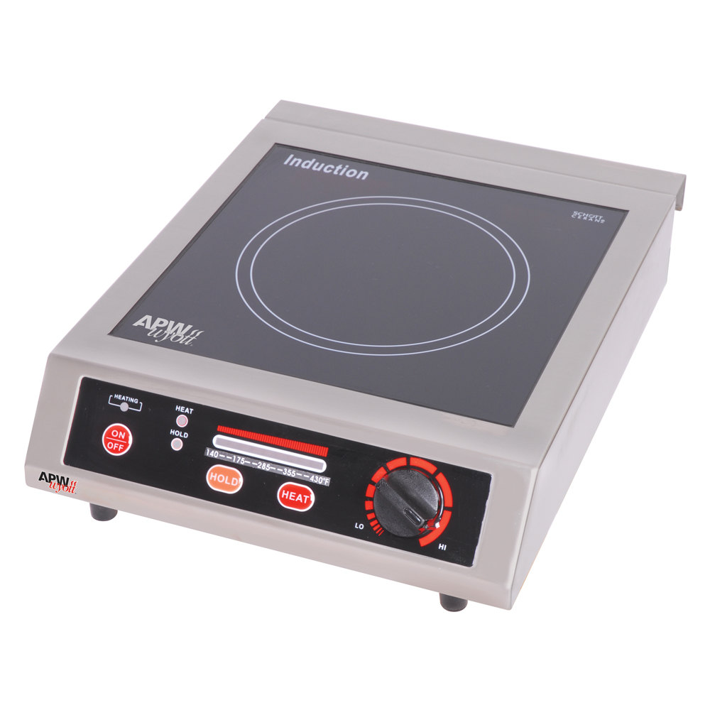 APW Wyott ICT-18A Champion Countertop Induction Saute Hot Plate Cooker - 1800W