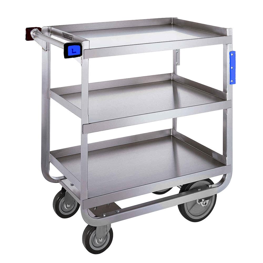 Metal Utility Cart: Lakeside 711 Heavy Duty Stainless Steel 3 Shelf Utility