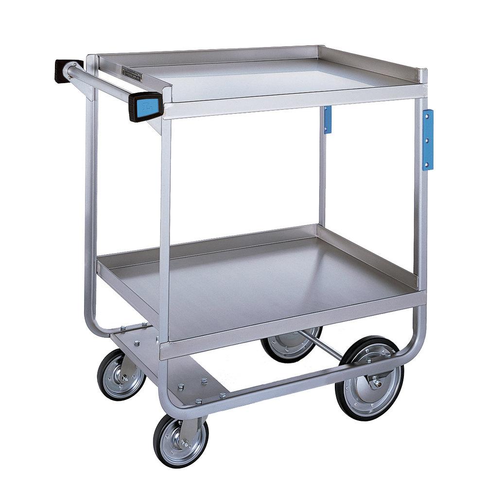 Metal Utility Cart: Lakeside 721 Heavy Duty Stainless Steel 2 Shelf Utility