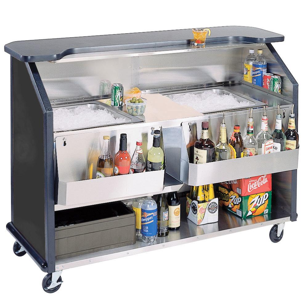 Portable Bar For Restaurant Black X