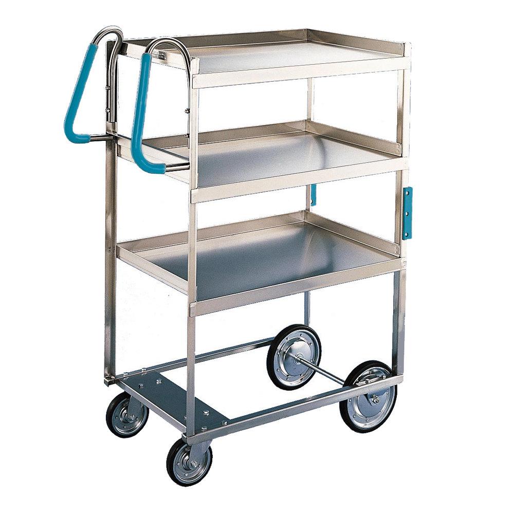 Metal Utility Cart: Lakeside 5915 Stainless Steel Three Shelf Ergo-One System
