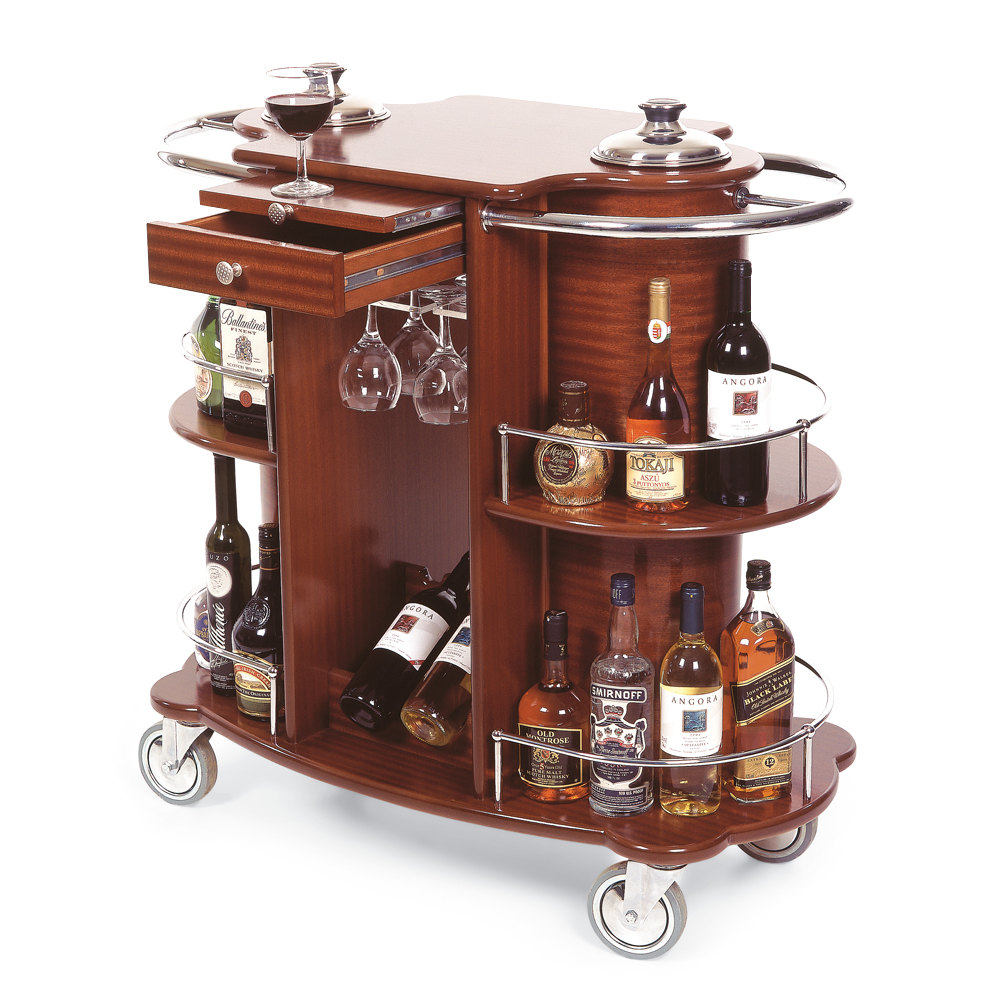geneva 70260 beverage service cart with 2 shelves and
