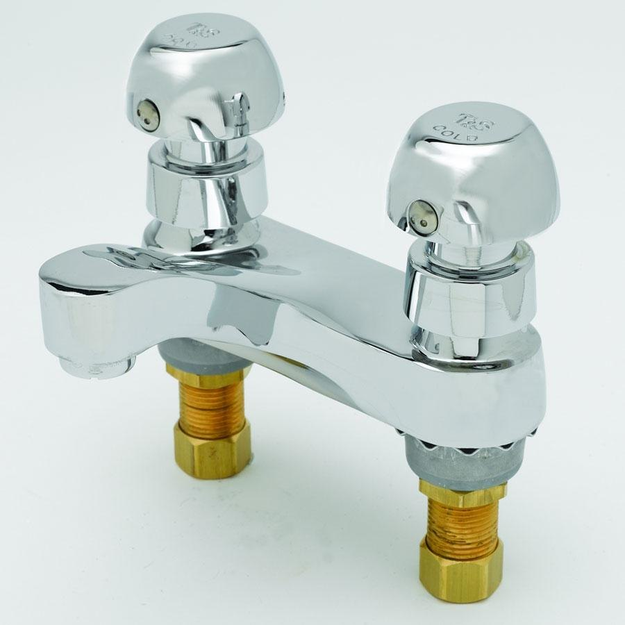 "T&S B-0831-VR Deck Mount Centerset Metering and Mixing Faucet with 4"" Centers"