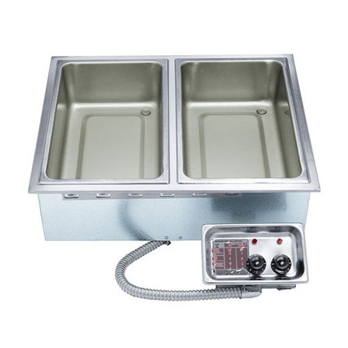 APW Wyott HFW-3 Insulated Three Pan Drop In Hot Food Well