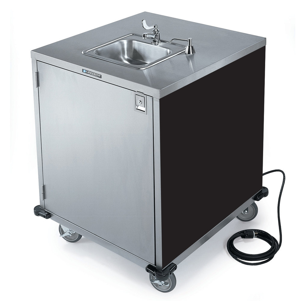 Lakeside 9600 Portable Self-Contained Stainless Steel Hand Sink Cart ...